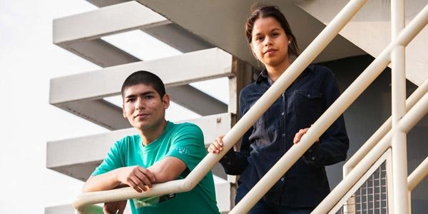 Sebastián Cuya y Karen Tambini.