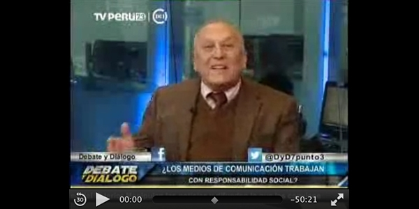 El profesor José Perla en TV Perú.