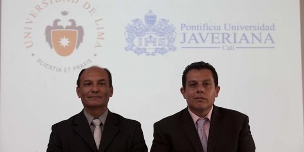 Bruno Bellido (Ulima) y Víctor Alberto Peña (Javeriana de Cali).