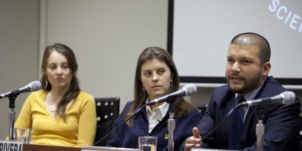 Vanessa Diez Canseco, Ximena Rivera y Jorge Loayza.
