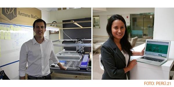 Jaime Sotomayor (Ingeniería de Sistemas) e Ivonne Quiñones (Ingeniería Industrial) fueron reconocidos por 'MIT Technology Review' en español.