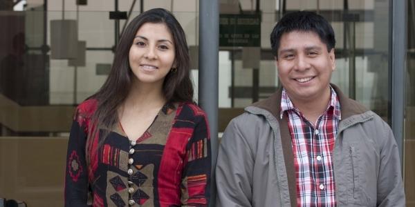 Diana y Fernando Esqueche.