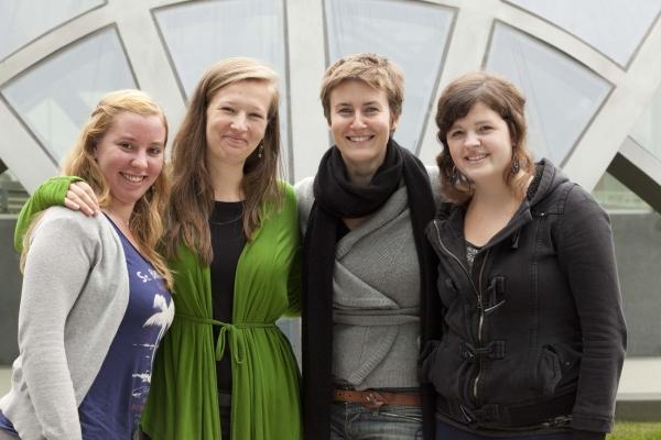 Divina Claes, Esra Cockx, Ewa Wojtasik y Sarah Buyl.
